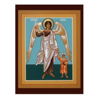 Carte de prière d'ange gardien carte postale