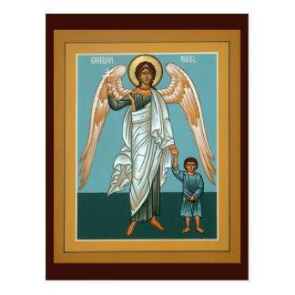 Carte de prière d'ange gardien cartes postales