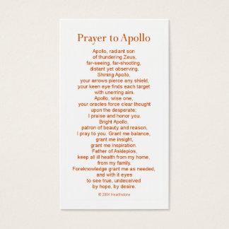Carte de prière d'Apollo