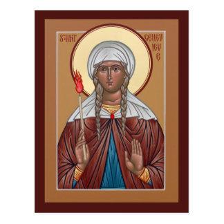 Carte de prière de Genevieve de saint Cartes Postales