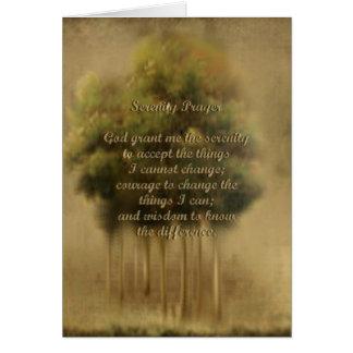 Carte de prière de sérénité