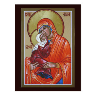Carte de prière de St Anna