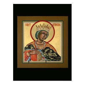 Carte de prière de St Catherine Carte Postale