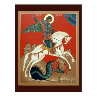 Carte de prière de St George Cartes Postales