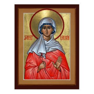 Carte de prière de St Laura