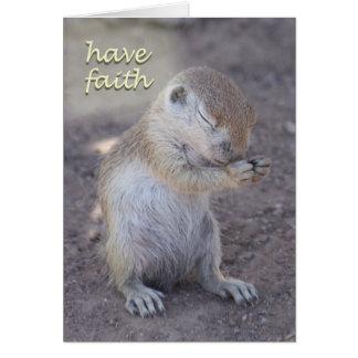 Carte de prière d'écureuil