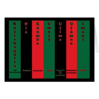 Carte de principes de Kwanzaa sept