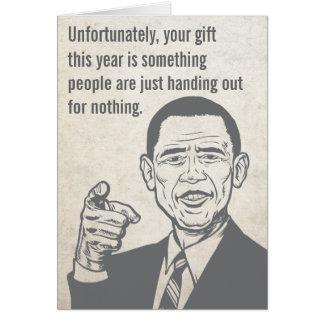 Carte de prix d'Obama Nobel