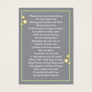 Carte de produit de bébé de lune et d'étoiles