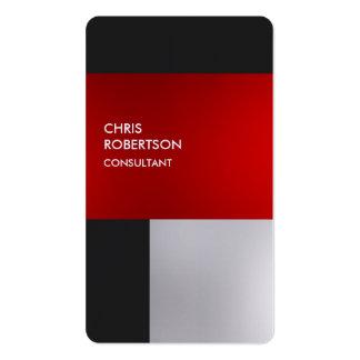 Carte de profil arrondie par gris rouge coloré de carte de visite standard