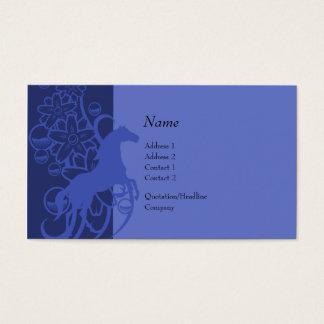 Carte de profil - cheval décoratif
