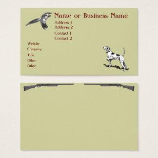 Carte de profil d'affaires de chien et de faisan