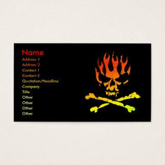 Carte de profil d'affaires de crâne du feu