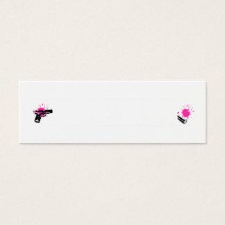 Carte de profil d'arme à feu et de balle - AJOUTEZ