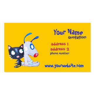 carte de profil de chien et de chat carte de visite standard
