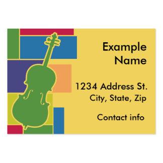 Carte de profil de Colorblocks de violoncelle Carte De Visite Grand Format