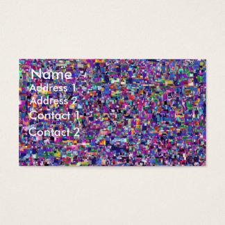 Carte de profil de confettis
