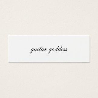 carte de profil de déesse de guitare
