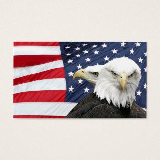 Carte de profil de drapeau américain d'aigles