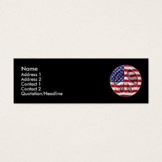 Carte de profil de drapeau de paix des Etats-Unis