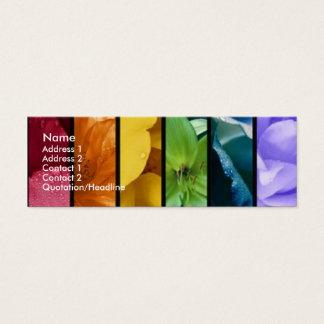 Carte de profil de fierté d'arc-en-ciel
