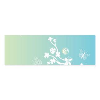 Carte de profil de fleurs et de papillons carte de visite petit format