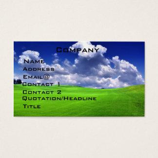 Carte de profil de golf