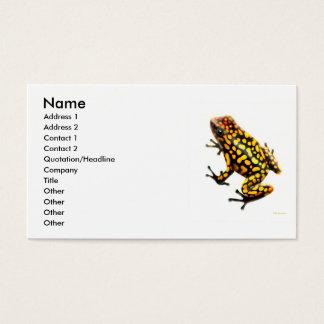 Carte de profil de grenouille de poison de