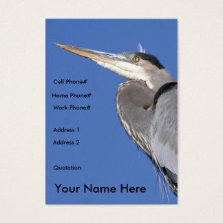Carte de profil de héron de grand bleu