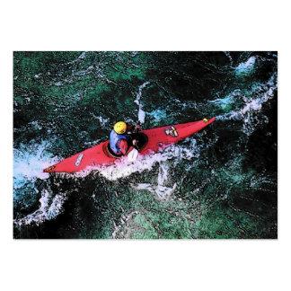 Carte de profil de Kayaker Modèle De Carte De Visite
