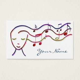 carte de profil de musique