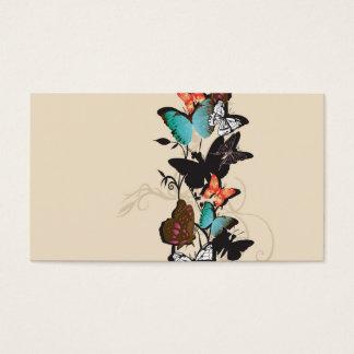 Carte de profil de papillons