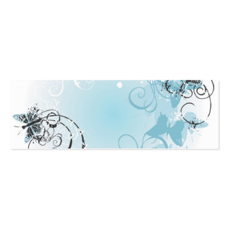 Carte de profil de papillons carte de visite petit format