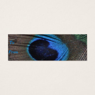 Carte de profil de plume de paon