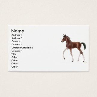 Carte de profil de poulain de trot