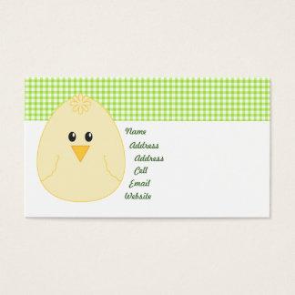 Carte de profil de poulet de guingan