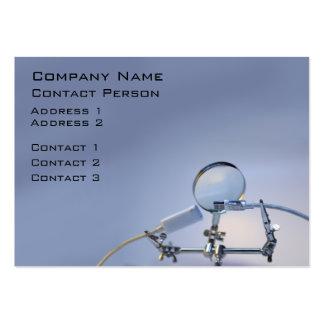 Carte de profil de réparateur d'ordinateur carte de visite grand format