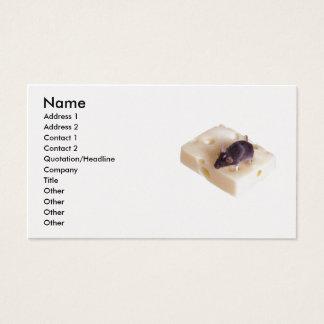 Carte de profil de souris de fromage suisse
