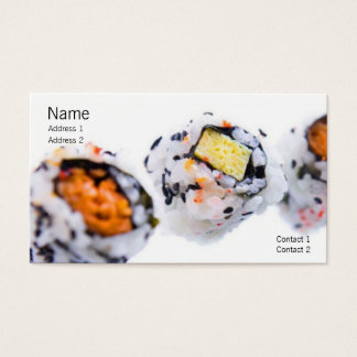 Carte de profil de sushi