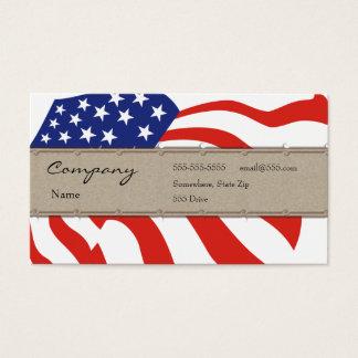 Carte de profil - drapeau décoratif des Etats-Unis