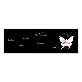 Carte de profil du papillon I de diva - Carte De Visite Petit Format
