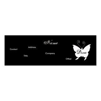 Carte de profil du papillon I de diva - Cusomizabl Cartes De Visite Professionnelles