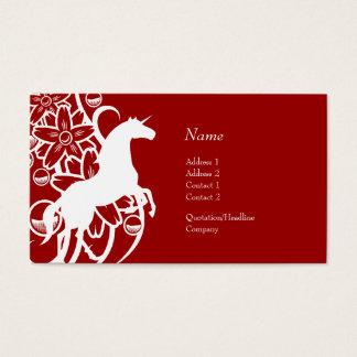 Carte de profil - licorne décorative