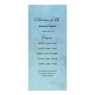 Carte de programme bleue d'aquarelle de cérémonie