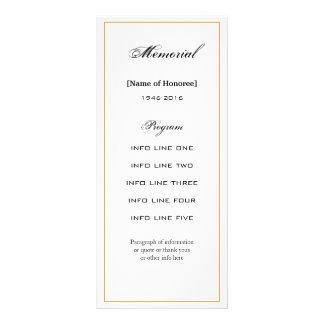 Carte de programme simple et élégante de cérémonie