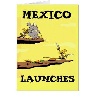 Carte de programme spatial mexicaine