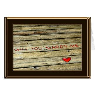 Carte de proposition de mariage