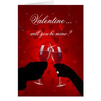 Carte de proposition de mariage de Saint-Valentin