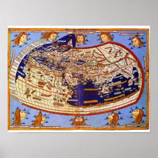 Carte de Ptolémée Posters