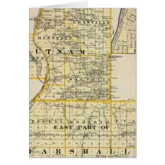 Carte de Putnam et partie est de comtés de